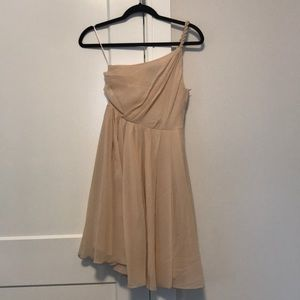 H&M one shoulder cocktail dress sz 2